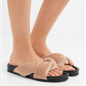 Shoes - Velvet Knot slides sandals